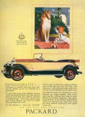 Packard Ad With Collie, as published in Antique Automobile recently