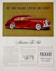 1940 Packard Darrin Sport Sedan Ad