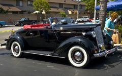 1936 Packard 999 One Twenty Convertible Coupe - black - fvr