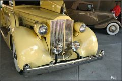 1935 Packard 1207 Convertible Coupe Roadster - yellow - front details