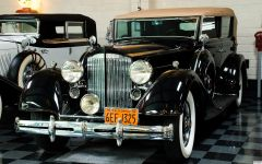 1934 Packard 1101 Convertible Sedan by Dietrich - black - fvl 2
