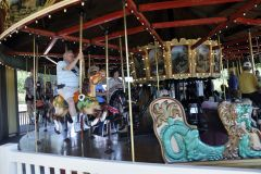 Friday - Fun on the merry-go-round at lunch stop