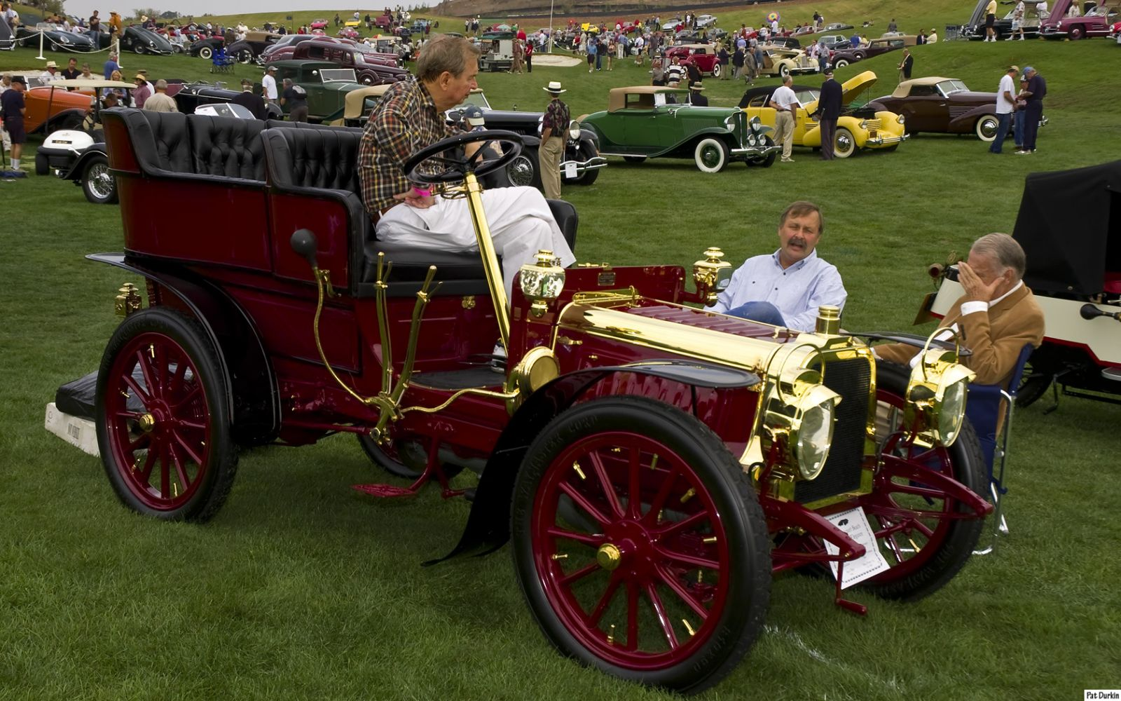 1903 Clement rear entry tonneau - dark red - fvr
