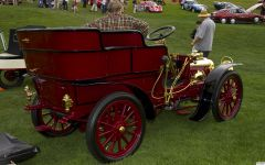 1903 Clement rear entry tonneau - dark red - rvr