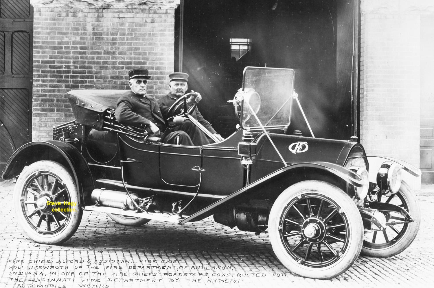 Cincinnati OH   1913 Nyberg Chief's Car