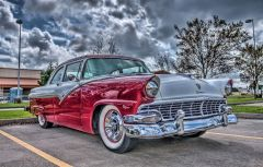 1956 Ford Fairlane, Left Side / HDR