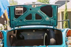 trunk view 1955 Buick