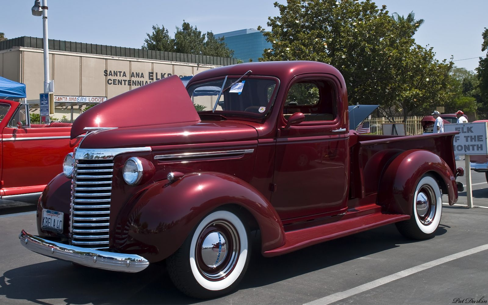 1940 Chevrolet pickup - burgundy metallic - fvl
