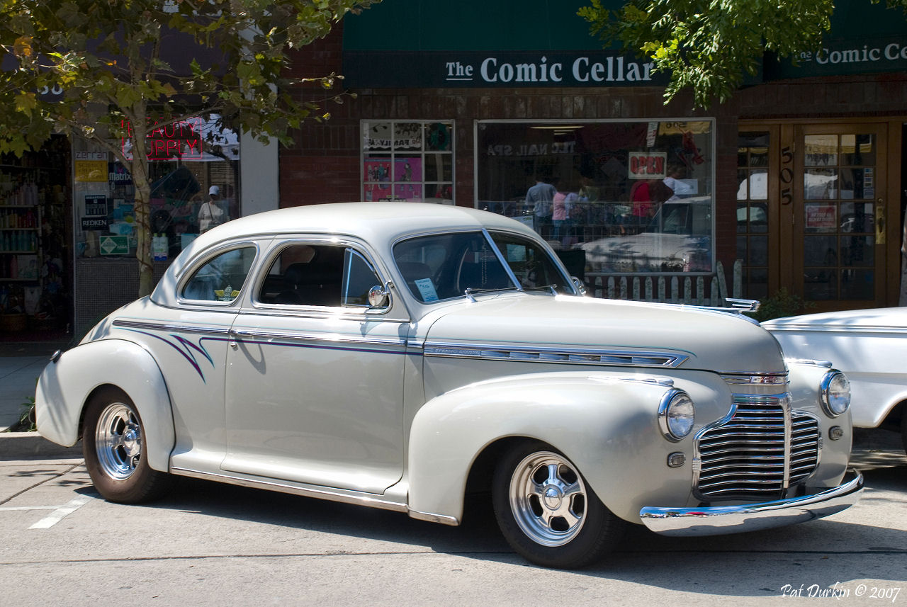 1941 Chevy coupe - gray - fvr - General Motors Products