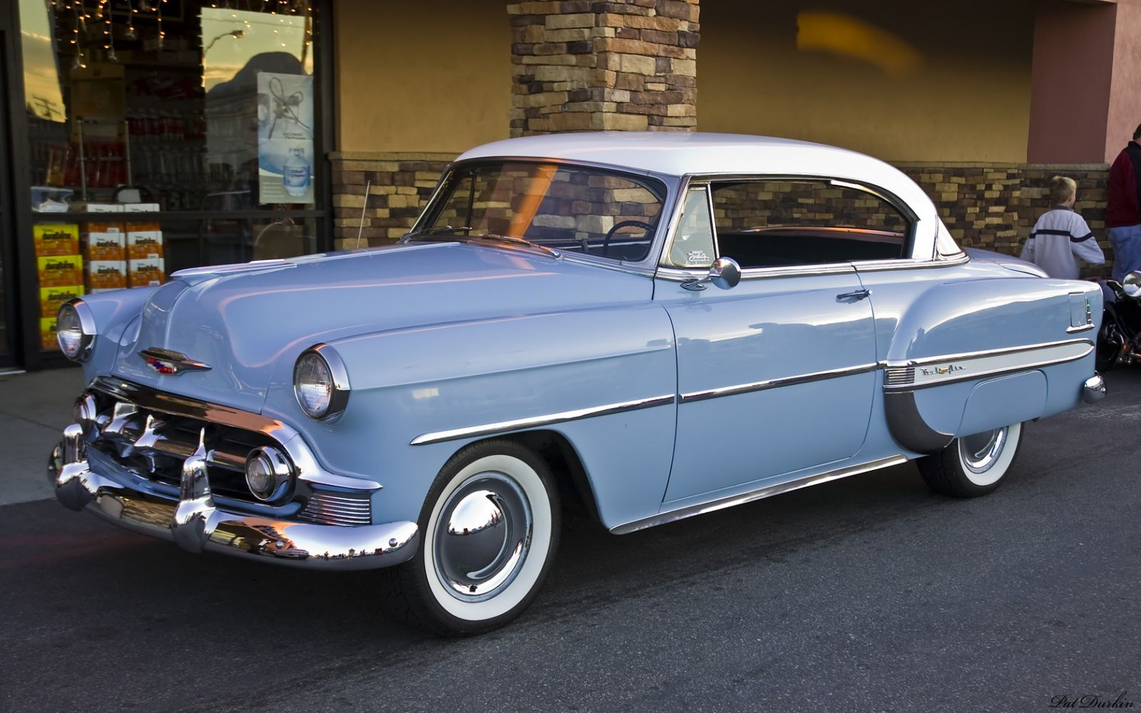 1953 chevrolet bel air ht white over light blue fvl