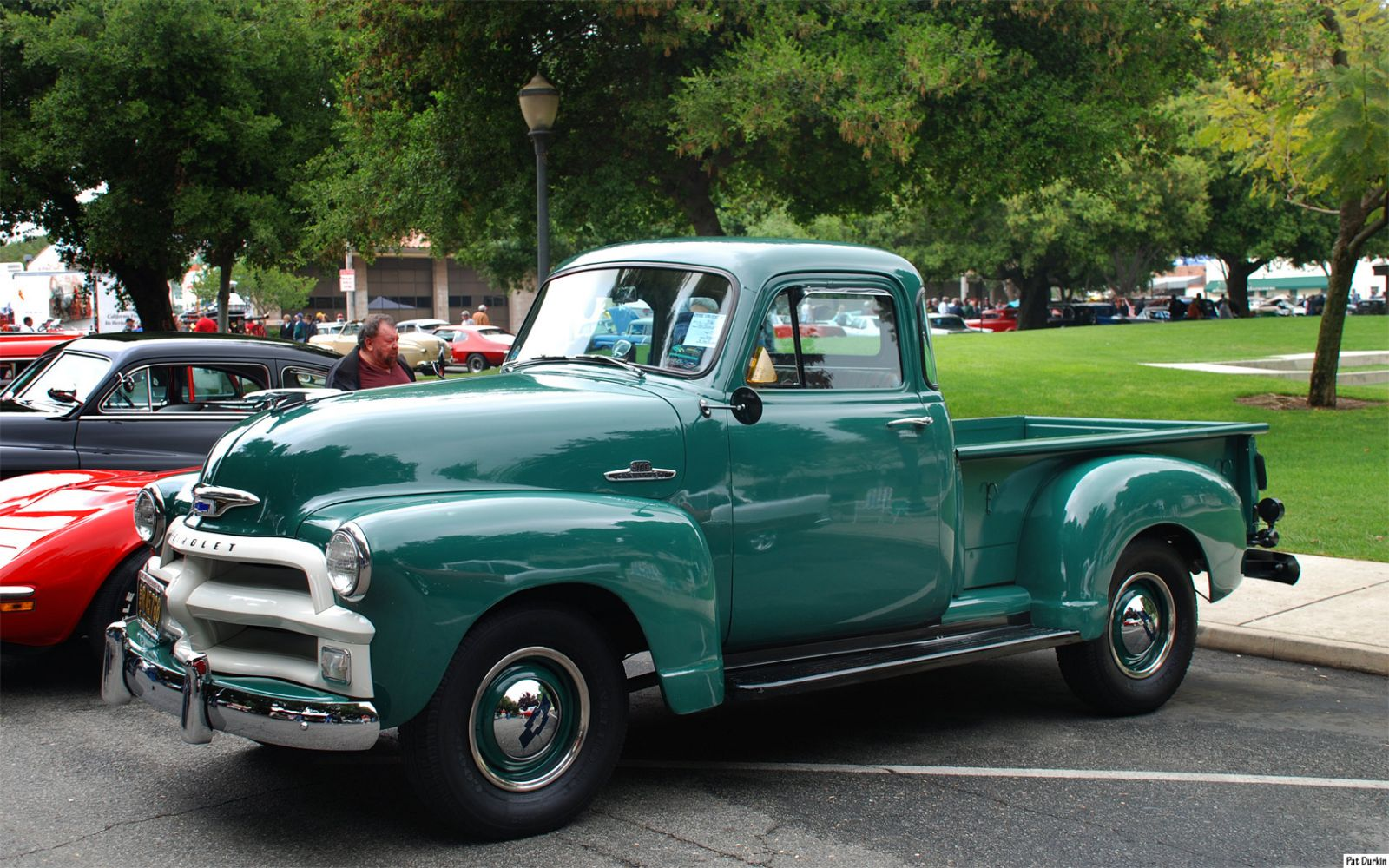 All Chevy 1955 chevrolet 3100 : 1955 Chevrolet 3100 Pickup - Glade Green - fvl - General Motors ...