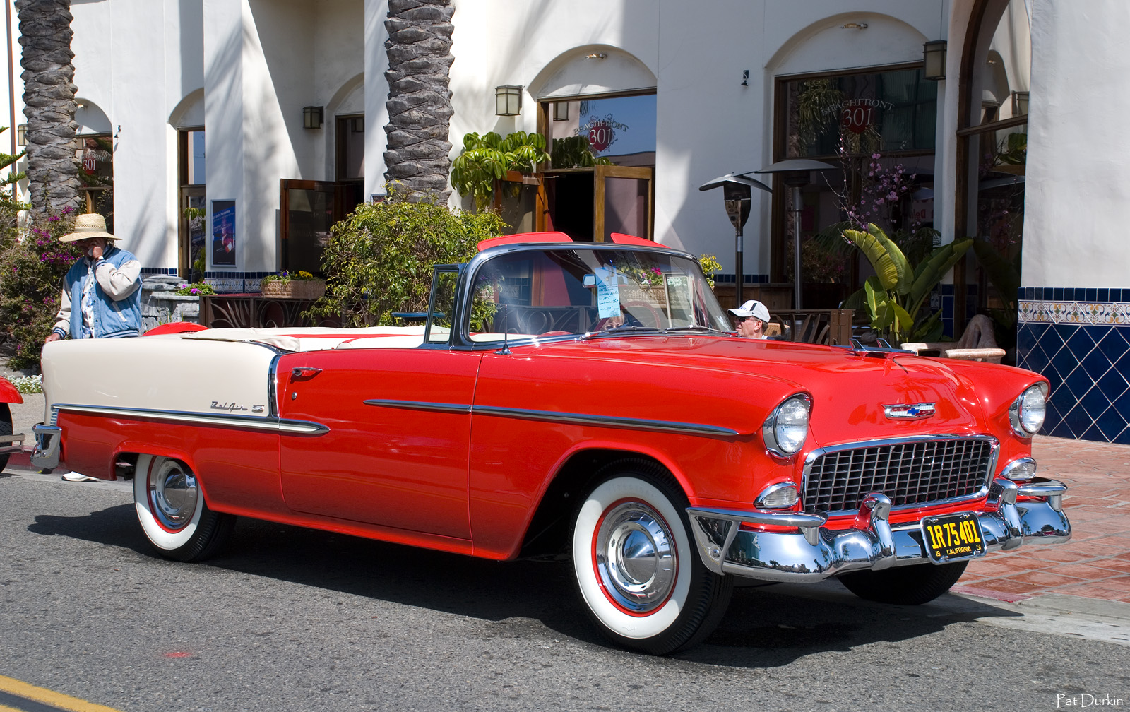 1955 Chevy Bel Air Convertible with top down - Gypsy Red & Polo ...