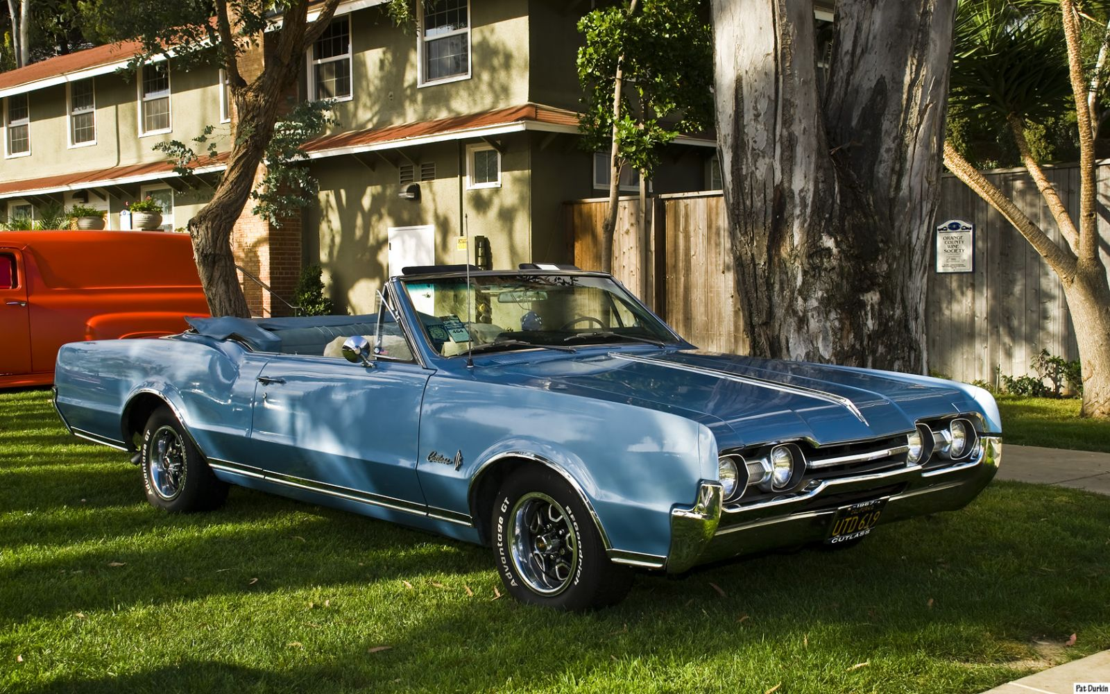 1967 Oldsmobile Cutlass Supreme Convertible With Top Down