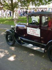 J. Walsh's '29 Ford before the 2005 Branford Memorial Day Parade