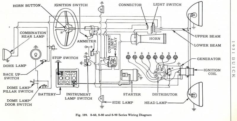 wiring schematic for 1931 8-67 - buick - pre war - technical - antique  automobile club of america - discussion forums  aaca forums - antique automobile club of america