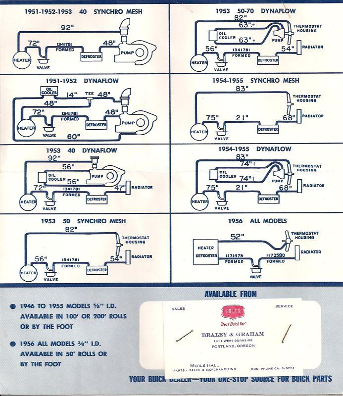 water hose routing buick post war technical antique godin wiring diagram wiring library