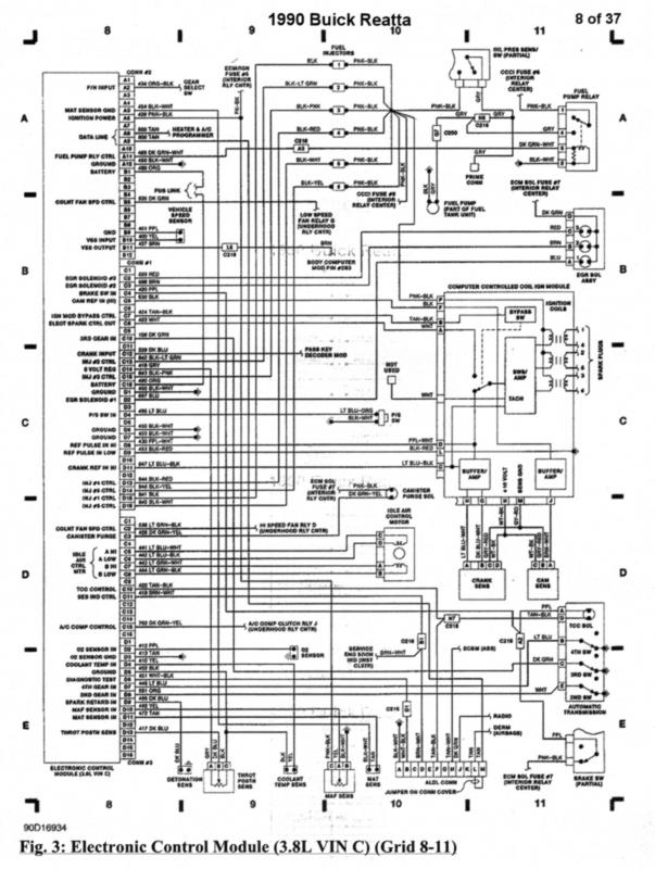 90 reatta wiring diagram buick reatta antique automobile club of Buick Century Wiring-Diagram