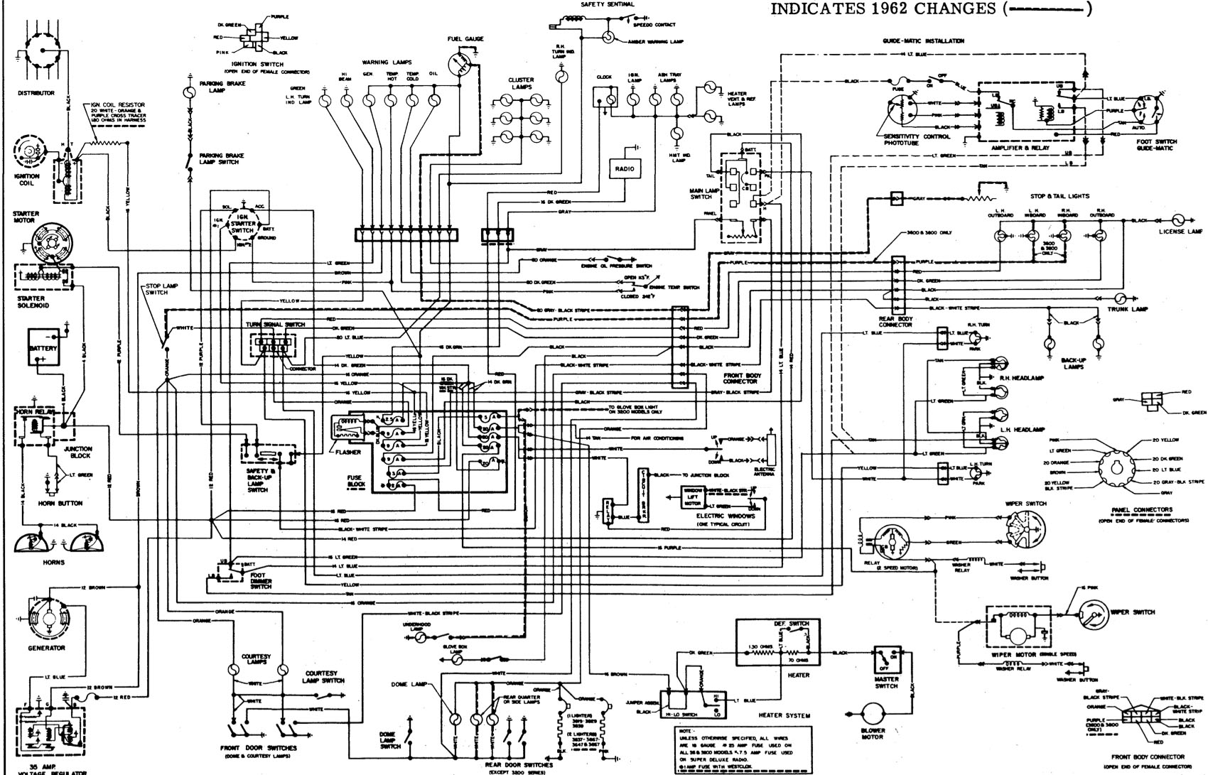 1962 Starfire Wiring Diagram For A  C With Alternator