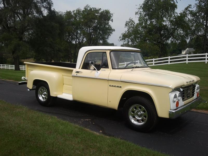 For Sale 1965 Dodge D-100 Stepside Pickup, 318 V-8/4-speed, Ready to