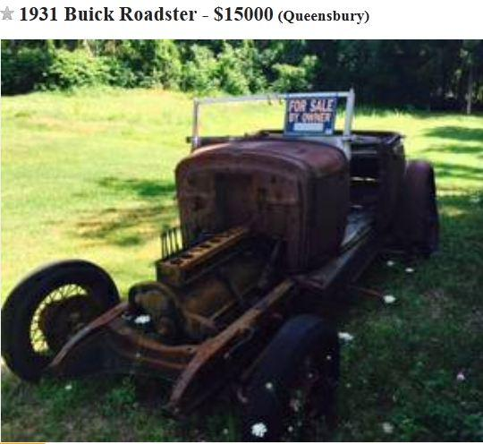 1931 Buick Roadster on Craigslist-Queensbury NY NOT MINE