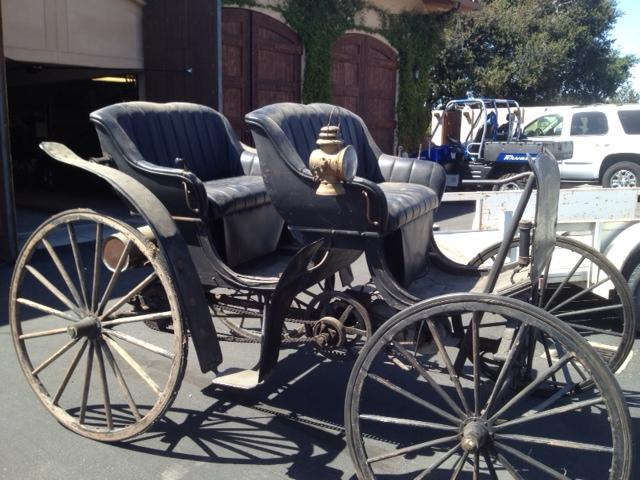 Need information on horseless carriage with tiller steering