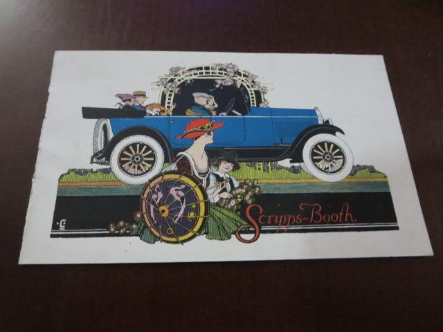 1920 ? Scripps Booth Sales Brochure Roadster Touring Car Coupe Sedan