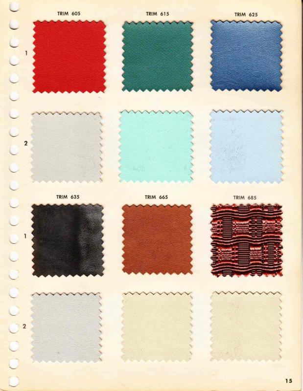 1957 Buick Upholstery Trim And Colour Options Buick Post War