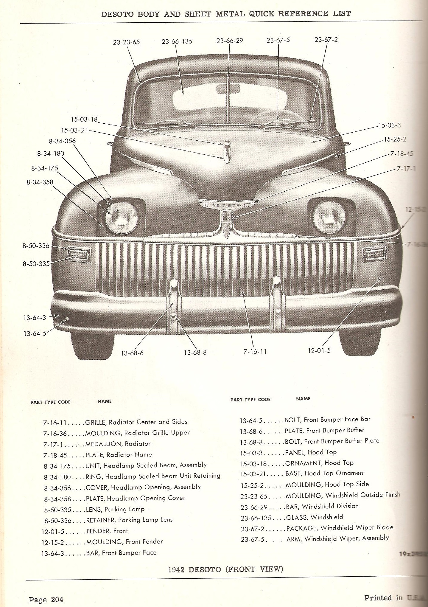 1942 Desoto parts wanted - Chrysler Products - Buy/Sell - Antique ...