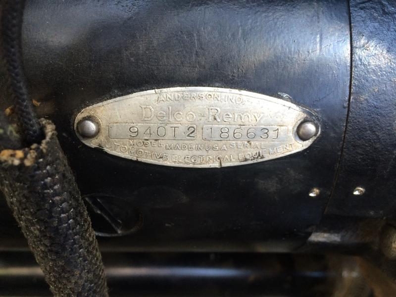delco remy generator serial numbers