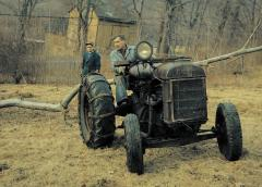 Richard and Carlton Perry gathering fire wood on their property in Putnam Valley, NY, early 1960s.jpeg