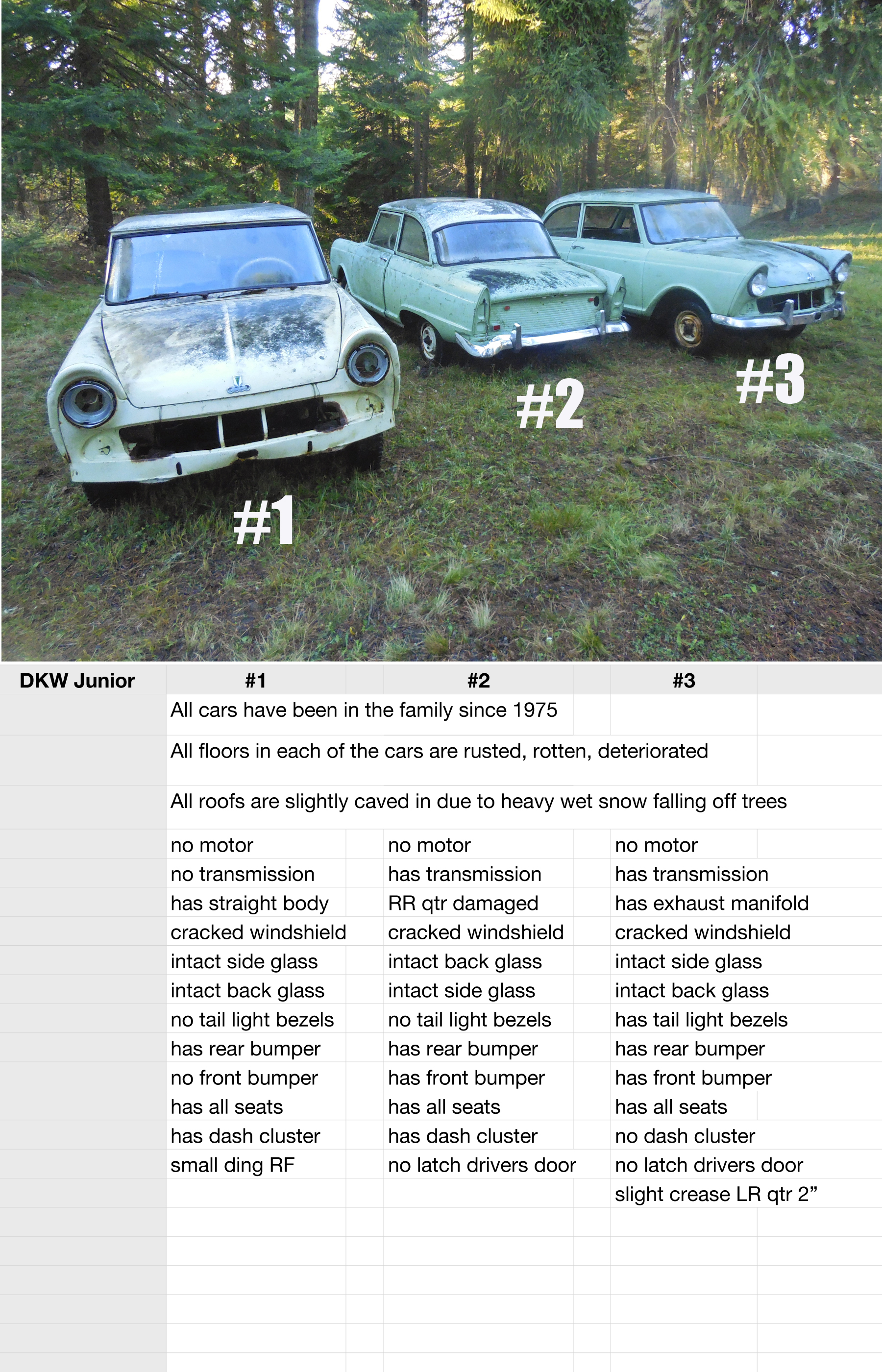 1962 Dkw Junior X3 For Sale Cars For Sale Antique