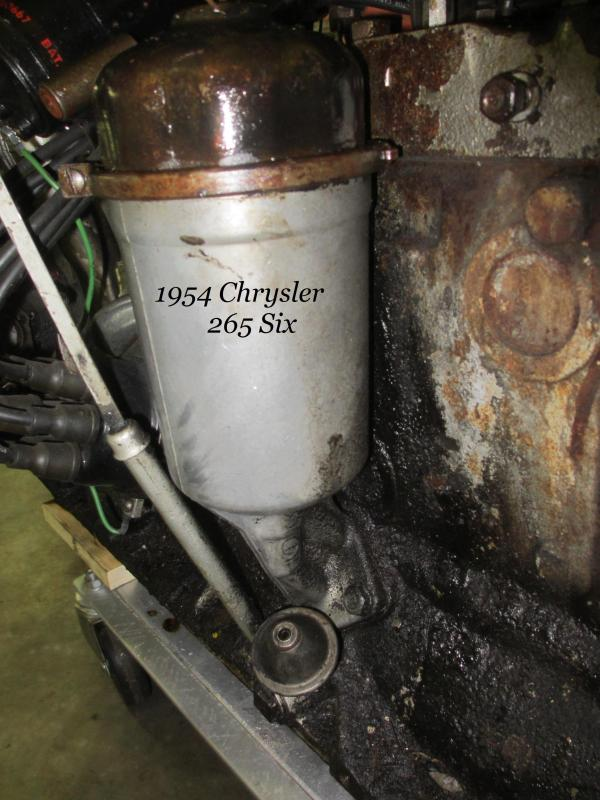 Oil Filter Housing  1954 265 Chrysler .JPG