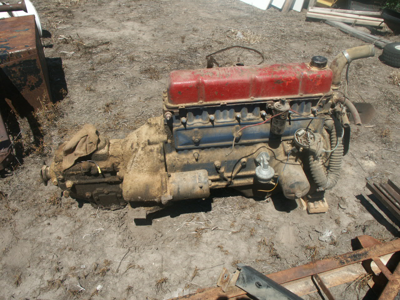Parting out 1959 Ford 223 6 Cylinder motor & 4 speed