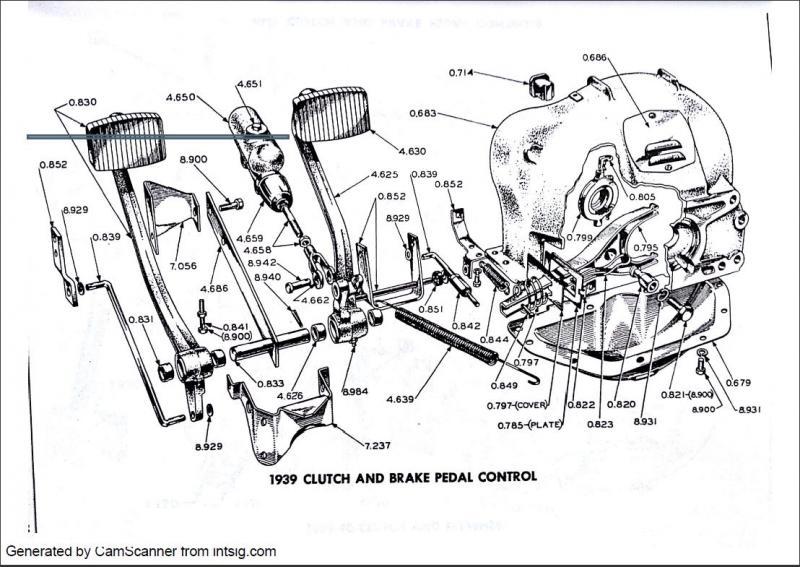 1939 BRAKE AND CLUTCH PEDALS .JPG