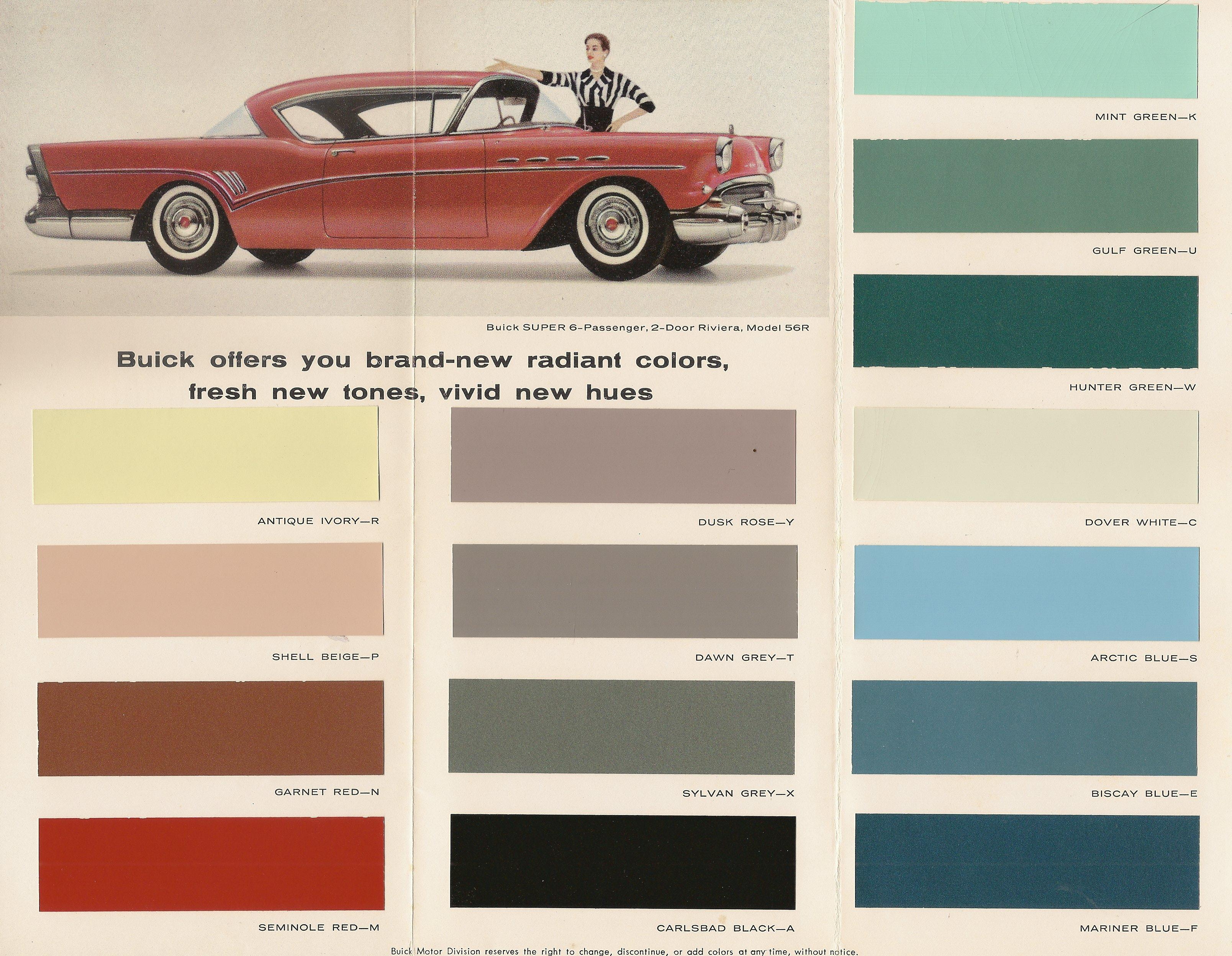 Colors For 1957 Garnet Red Versus Bittersweet Buick Post War Chevy Bel Air Convertible Color Choices 4 57 Rev Page 1