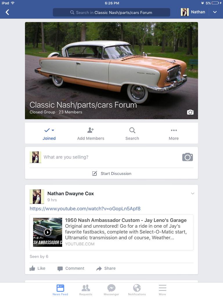 Nash Facebook page started - American Motors (AMC), Nash, & Rambler