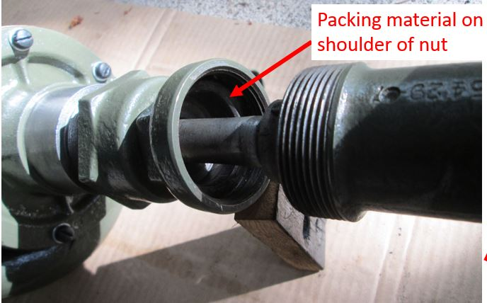 Packing Nut Leak : Cyl water pump packing buick pre war antique