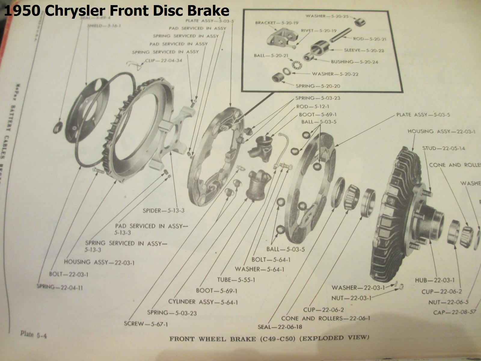 Ausco Lambert Information Chrysler Products General Antique 1950 Engine Diagram Front Disc Brake