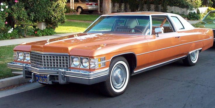 1974 Cadillac Eldorado--orange! - Cars For Sale - Antique Automobile