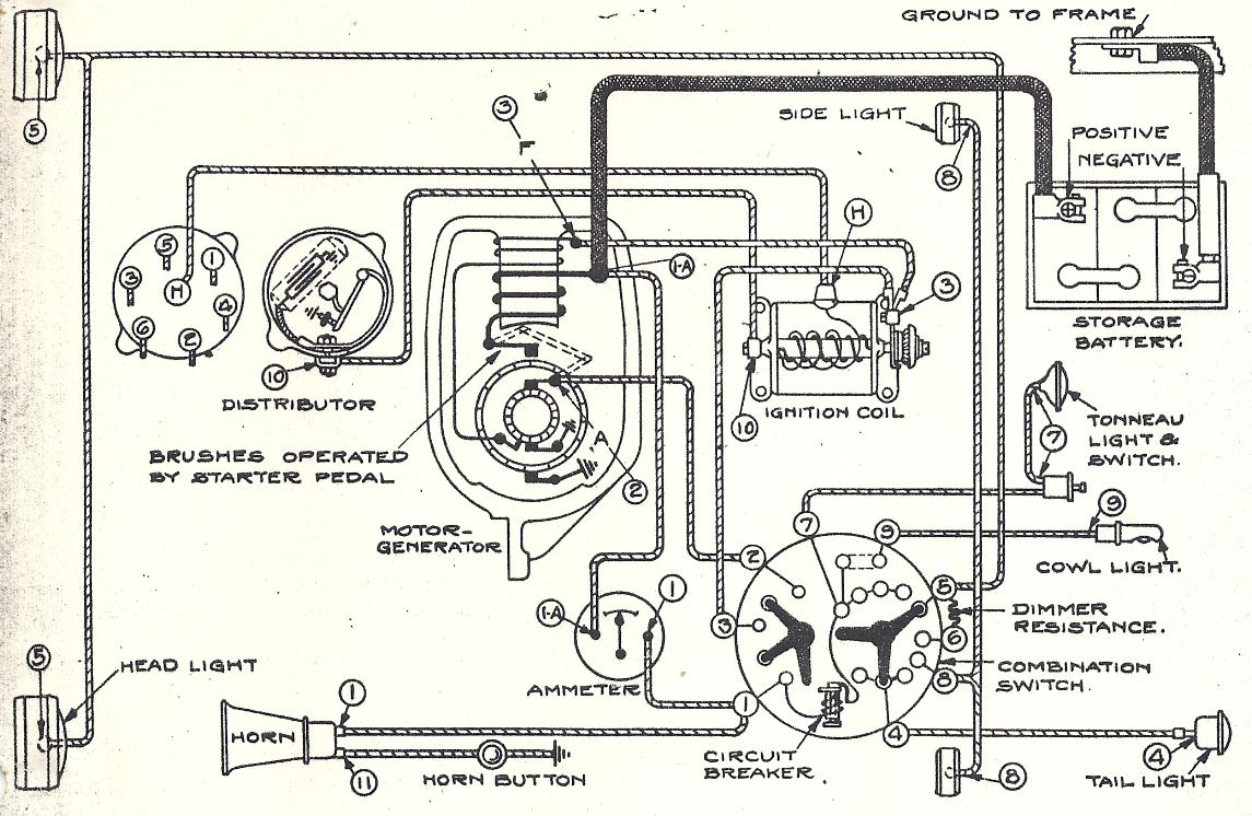 53 Buick Wiring Diagram Libraries Foot Operated Dimmer Switch Headlight 1927 Todays1927 Tech Tips Diagrams