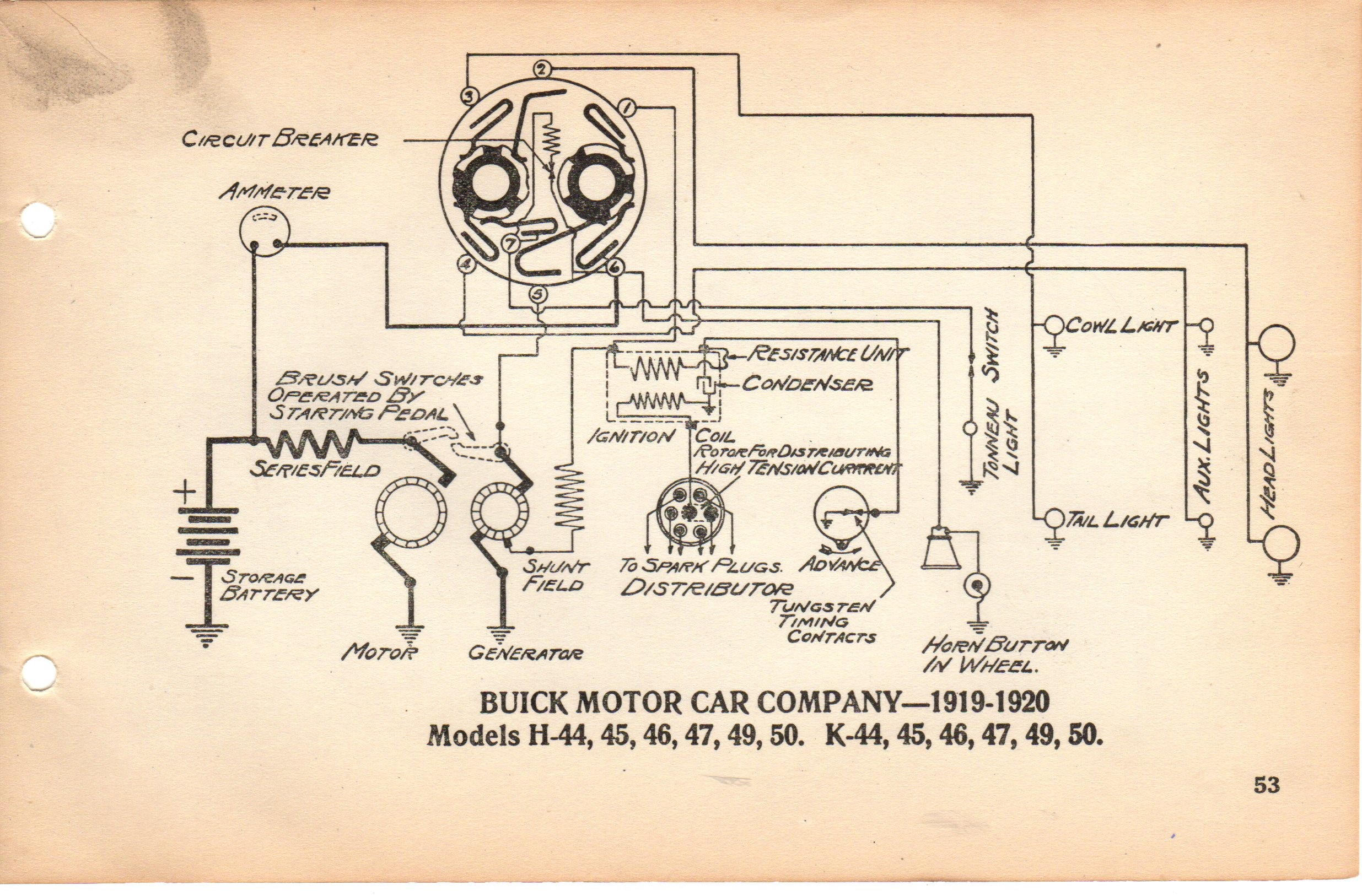 Delco 1920 Starter Generator Question Page 2 Buick Pre War Easy Pedal Wiring Diagram Diagram2083