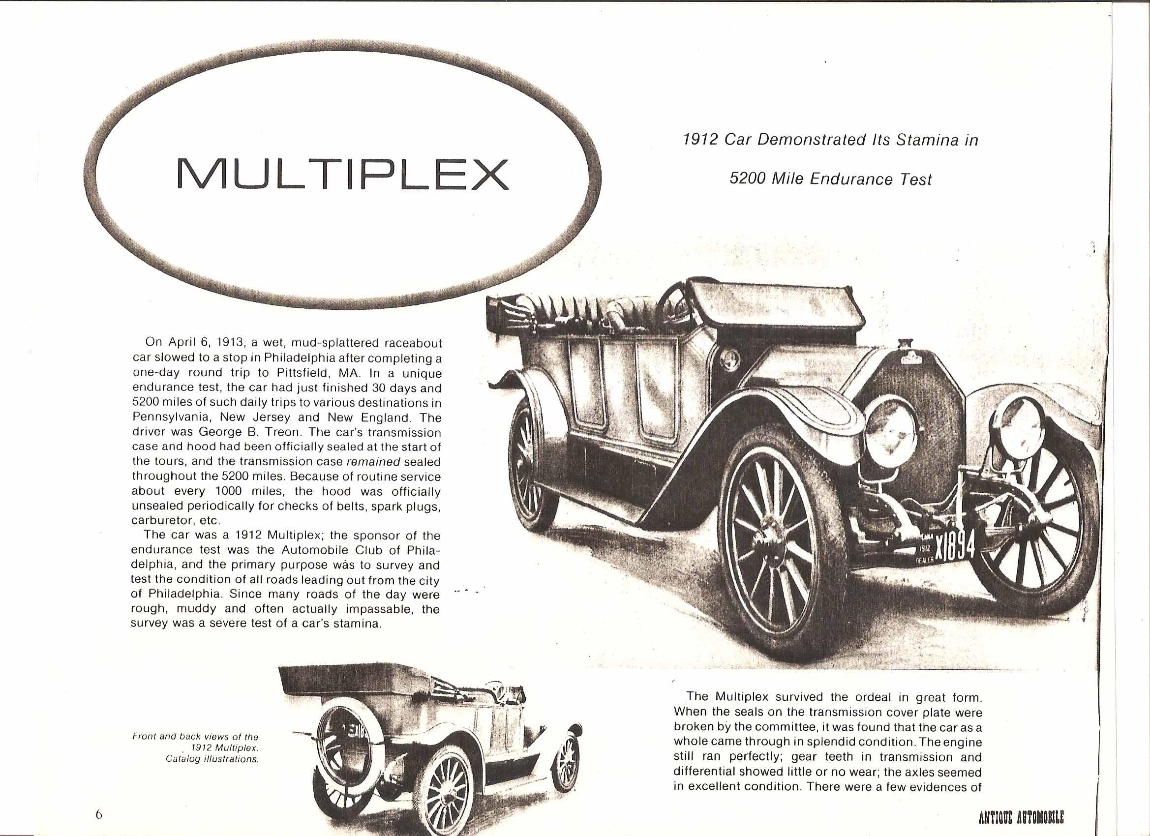 Rare Dealer Photos framed 1912 Multiplex cars + mannual - Cars For ...