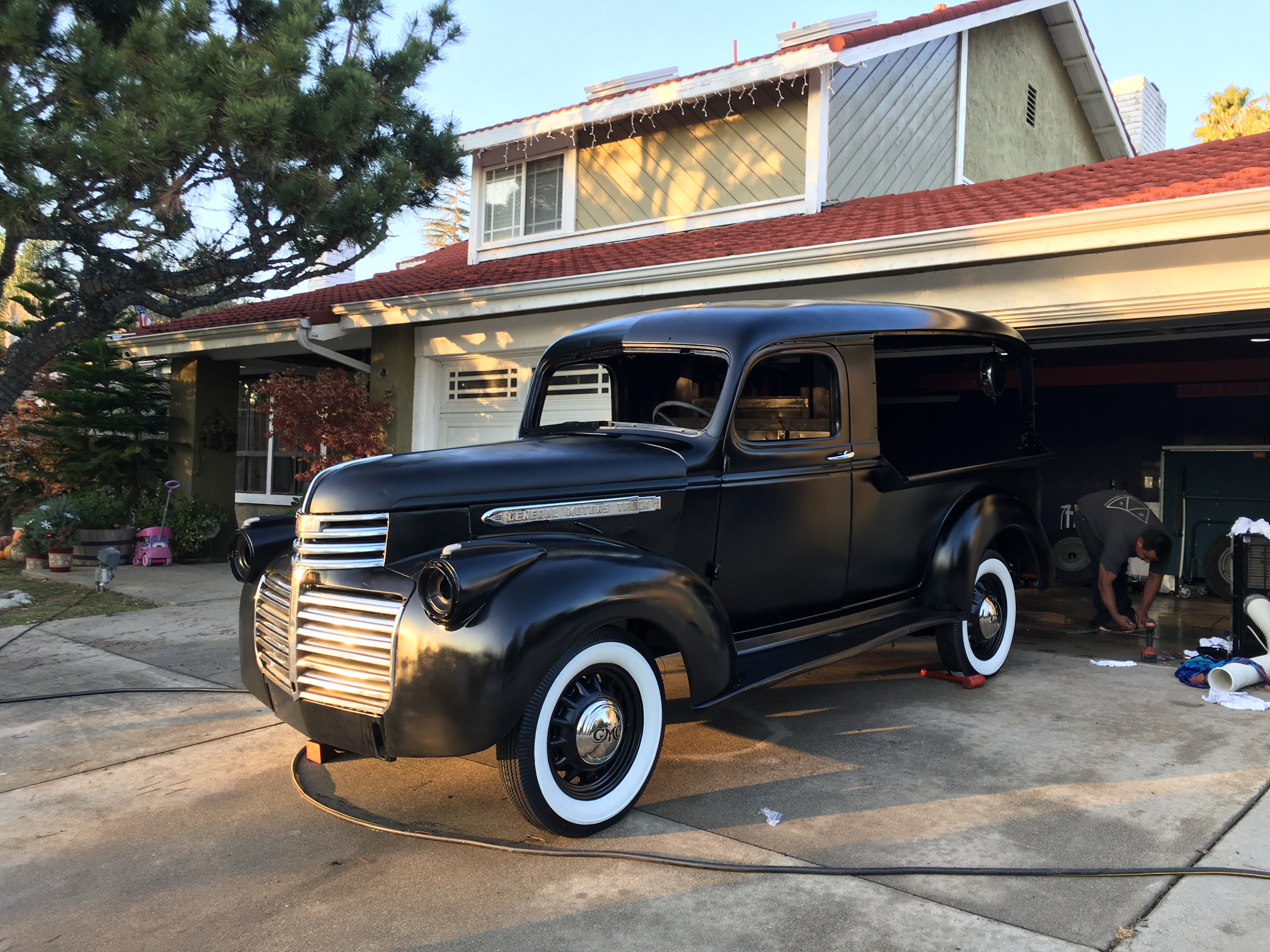 1946 Gmc Canopy Express 1 2 Cars For Sale Antique Automobile Old Car Wiring Harnesses All Metal Work Has Been Done On It Bodywork Prime Satin Black Reupholster Seats Rebuild 280 Motor New Harness Wheels Tires
