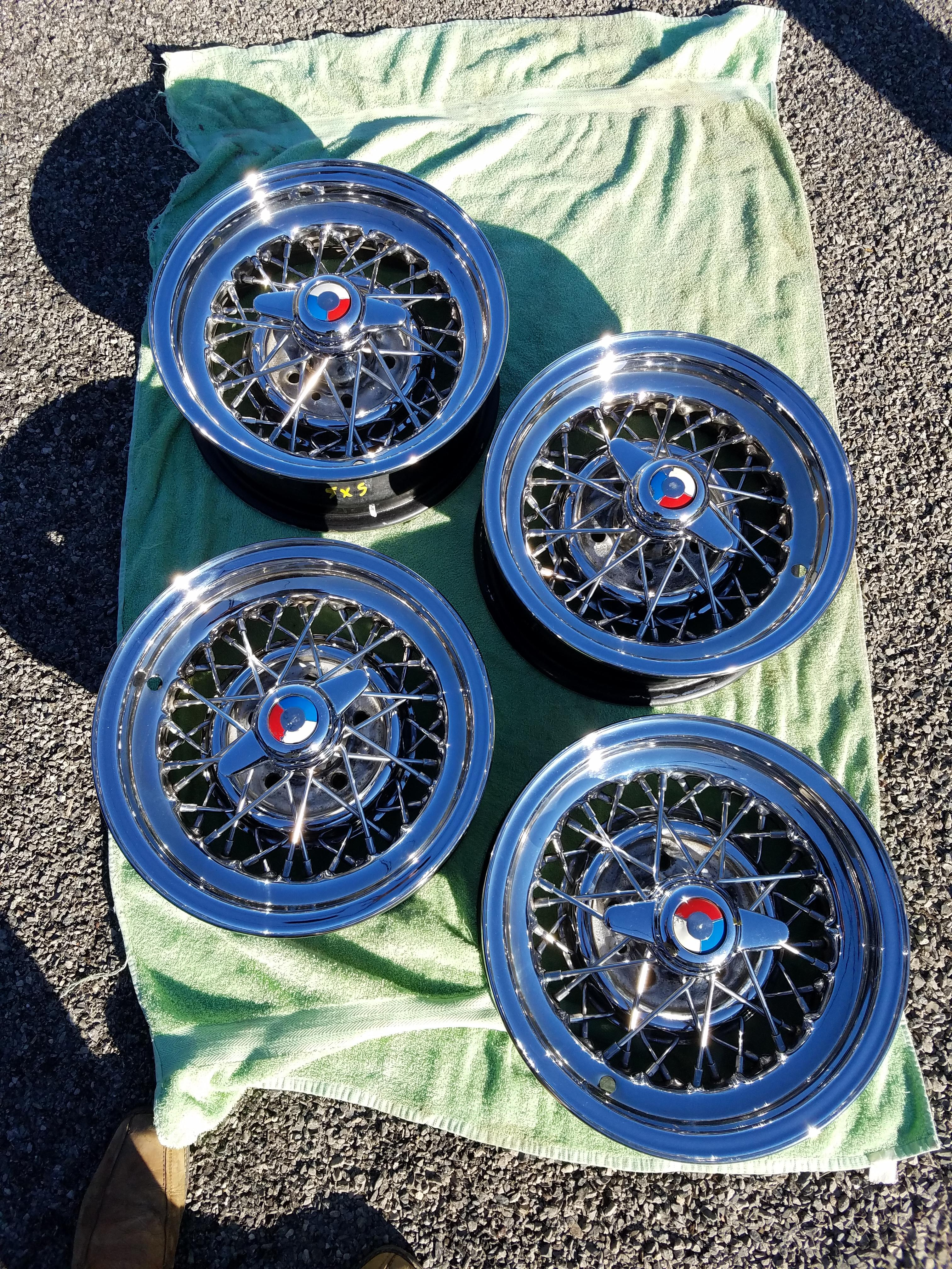 1954 Buick Skylark Kelsey Hayes Wire Wheels Complete Set with ...