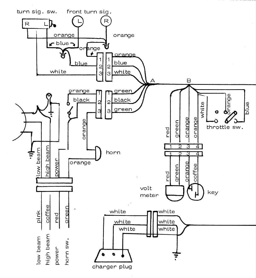 1974 Auranthetic Charger Electric Motorcycle Minibike 74 Headlight Wiring Diagrams Aurepg15