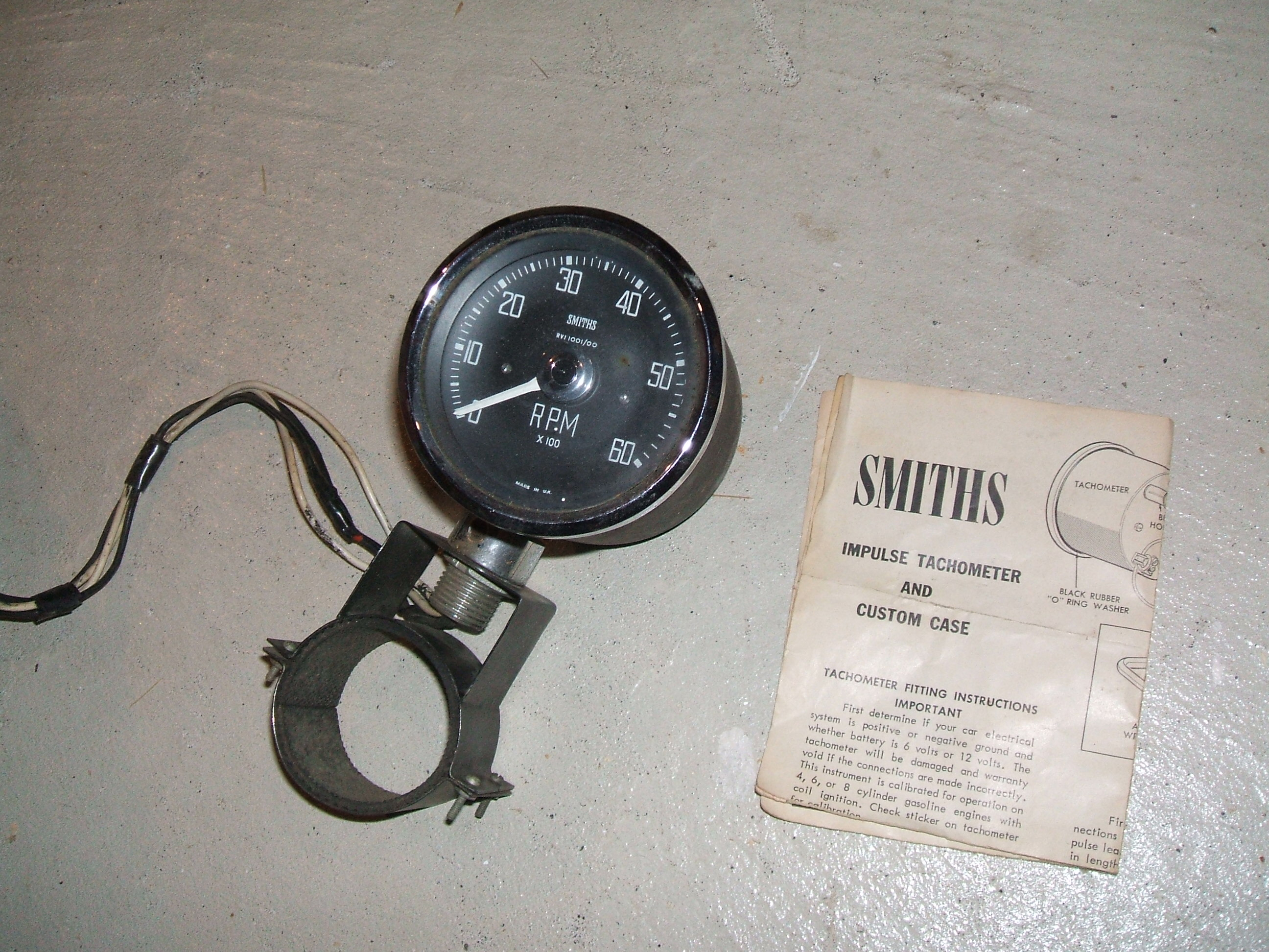 for sale vintage smiths tachometer 6 & 12 volt cars for sale mgb electronic ignition ground edited may 15, 2017 by cabnut (see edit history)