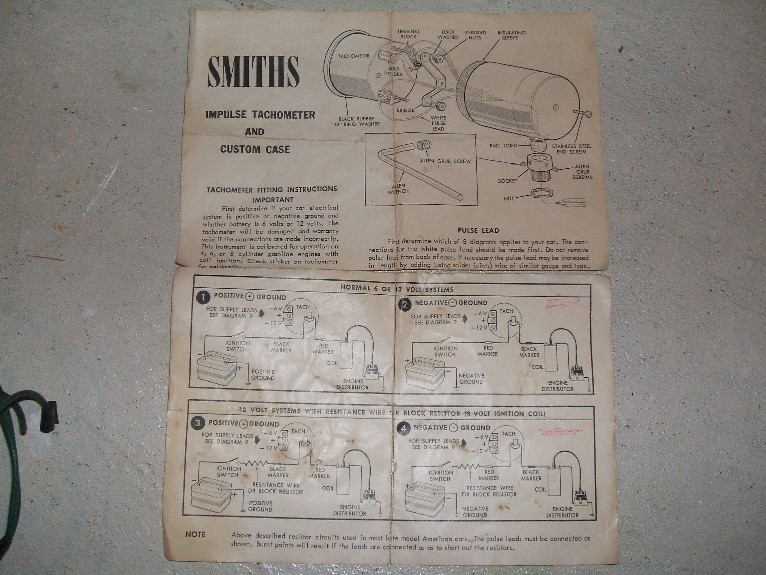 6 Volt Tachometer Positive Ground Wiring Diagram Libraries Smiths For Sale Vintage U0026 12 Cars Saleedited May 15