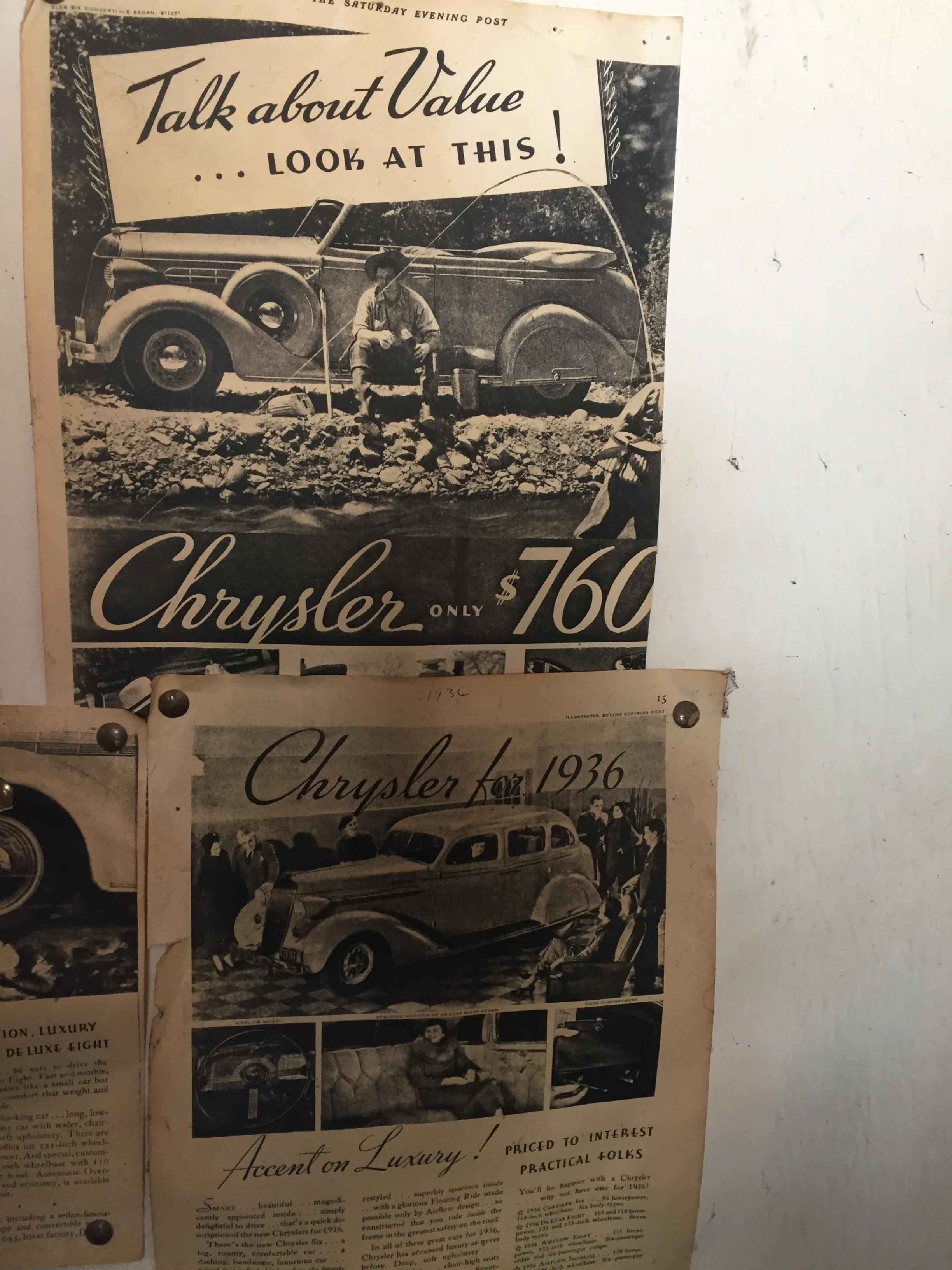 1936 Chrysler Six Airflow Cars For Sale Antique Automobile Club