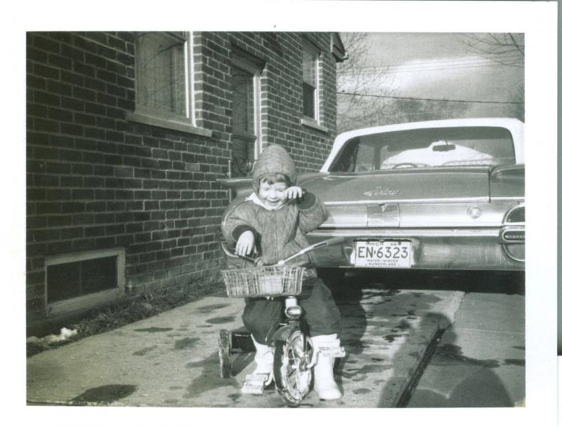 Kathy & her tricycle 1966.jpg