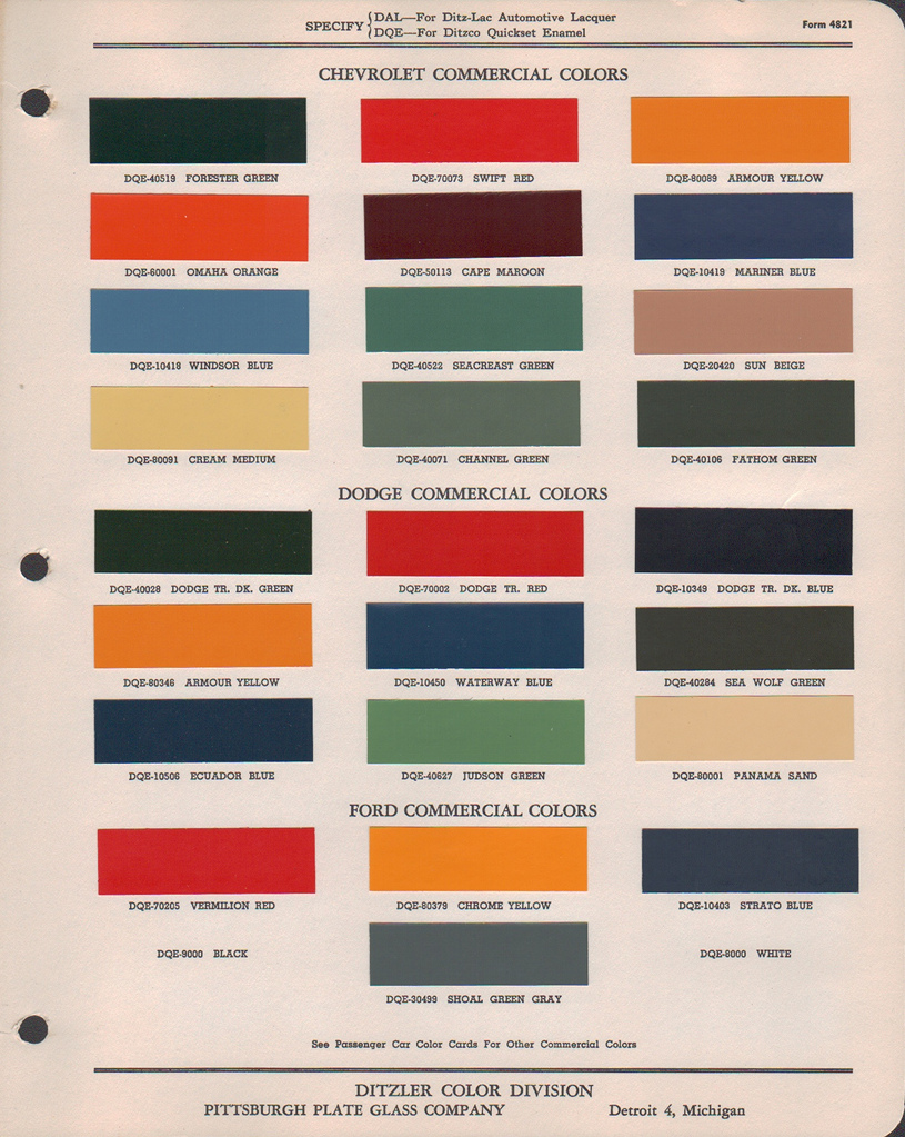 Canadian paint codes paint chips dodge trucks antique 1948 1949 dodge truck ditzler 4821g nvjuhfo Images